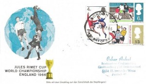 1966 World Cup Football, German produced Illustrated FDC, London WC FDI