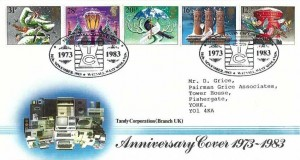 1983 Christmas Tandy Corporation Official FDC, Anniversary Celebrations 1973 - 1983 TC Walsall West Midlands H/S