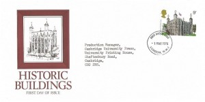1978 Historic Buildings, Tower of London FDC, 9p Tower of London Stamp only, London NW1 FDI