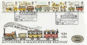 1980 Liverpool & Manchester Railway Market Weighton School Special FDC, The Great Railway 1830 Exposition 1980 Liverpool Road Station Manchester H/S