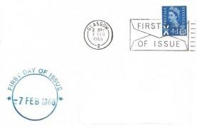 1966 QEII 4d Scottish Phosphor Regional, Display FDC, First Day of Issue Glasgow Slogan