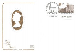 1996 £5 Windsor Castle PVA Lay-Flat Gum, Cotswold FDC, Windsor Philatelic Counter H/S