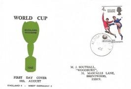 1966 World Cup Winners, M J Southall FDC, Aldgate BO EC3 cds