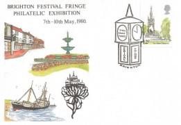 1980 London Landmarks Brighton Festival Fringe Official FDC, Brighton Festival Fringe H/S