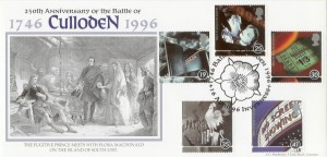 1996 Cinema Battle of Culloden Bradbury Official FDC, 250th Anniversary of the Battle of Culloden 1746-1996 H/S