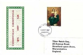 1967 Christmas 4d, Holmes Tolley FDC, Coventry Warwickshire FDI