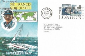 1967 Sir Francis Chichester, Connoisseur FDC, Ship Through the Port of London Slogan
