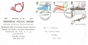 1974 Universal Postal Union, Exeter FDC, South Devon FDI