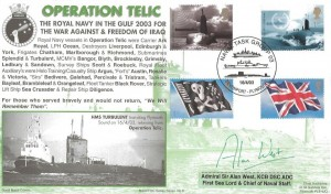 2003 Operation Telic Commemorative Cover, Naval Task Group 03 Devonport Plymouth H/S, signed by Admiral Air Alan West