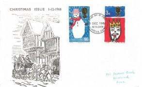 1966 Christmas, Illustrated FDC, Bethlehem Llandeilo Carms. FDI