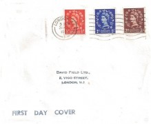 1953 ½d, 1d, 2d QEII Wilding Definitive Issue, David Field Ltd.FDC. London W1 Cancel