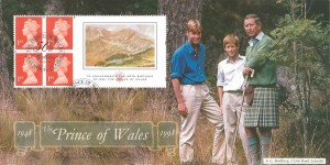 1998 £1.04 The Prince of Wales Commemorative Label, Bradbury Official FDC, The Prince of Wale Balmoral Crathie H/S, Signed by Jennie Bond BBC Court Correspondent