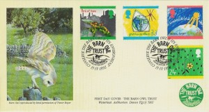 1992 Green Issue, Covercraft Official FDC, The Barn Owl Trust Ashburton Devon H/S