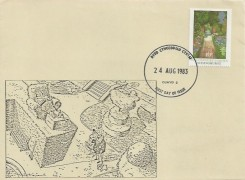 1983 British Gardens, Privately Produced Illustrated FDC, 16p Sissinghurst stamp only, Clwyd 2 FDI