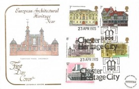 1975 Architecture, Cotswold FDC, Chester Heritage City H/S