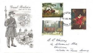1967 Paintings, Stuart Monochrome Beefeater FDC, London WC FDI