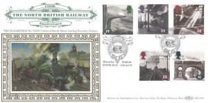 1994 The Age of Steam, Benham BLCS90 Official FDC, The North British Railway Company Waverley Station Edinburgh H/S