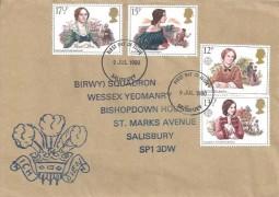1980 Famous People, Royal Wessex Yeomanry FDC, Salisbury FDI