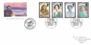 2002 The Queen Mother, Island of Pabay FDC, First Day of Issue Royal Mail Tallents House Edinburgh H/S