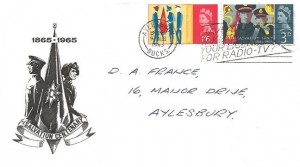 1965 Salvation Army, Illustrated FDC, Have you taken out your Licence for Radio - TV? Slogan Aylesbury Bucks