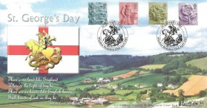 2001 England Country Pictorials 2nd, 1st, E, 65, Bradbury Windsor Series No.8 Official FDC, St.Georges Day Windsor Berkshire H/S