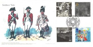 1999 Soldiers' Tale, Privately Produced The Queen's Own Royal West Kent 50th Foot Regiment FDC, Soldiers Whitehall London SW1 H/S