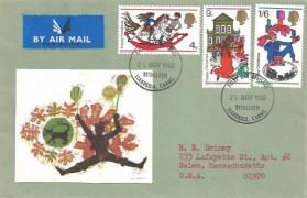 1968 Christmas, Handmade Illustrated FDC, Bethlehem Llandeilo Carms.FDI