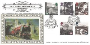 1994 The Age of Steam, Benham BLCS90b Official FDC, 150th Anniversary Midland Railway Euston NW1 H/S