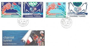 1994 Channel Tunnel, Royal Mail FDC, House of Commons SW1 cds