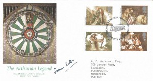 1985 Arthurian Legend, Hampshire County Council Official FDC, The Great Hall Winchester H/S, Signed