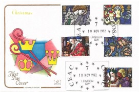 1992 Christmas, Cotswold FDC, CEAC 7 COSAC London SW H/S