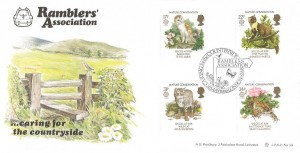 1986 Nature Conservation, Bradbury LFDC No.50 Official FDC, Rambler's Association Caring for the Countryside London SW8 H/S