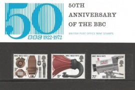 1972 50th Anniversary of the BBC Staff Presentation Pack