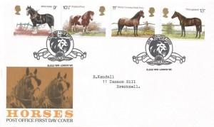 1978 Shire Horse Society, Post Office FDC, Ars Gratia Artis London W1 H/S