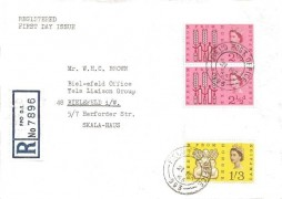 1963 Freedom from Hunger, Plain Registered FDC, Field Post Office 993 cds