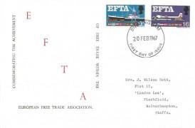 1967 European Free Trade Area (EFTA), Holmes Tolley FDC, Birmingham FDI
