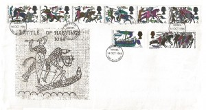 1966 Battle of Hastings, Holmes Tolley FDC, Battle Sussex FDI