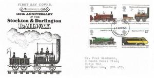 1975 Stockton & Darlington Railway, Save the Children Fund FDC, London N1 FDI