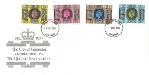 1977 Silver Jubilee, The City of Leicester FDC, Leicester FDI