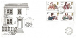 1980 Famous People, The Bronte Family House FDC, Thornton Bradford West Yorkshire cds