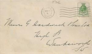 1929 Postal Union Congress, Plain FDC, ½d stamp only, London EC (L) Cancel