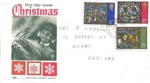 1971 Christmas, Gemini FDC, Sutton Bonington Loughborough cds