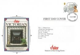 1987 Victorian Britain, Valor Heating Ltd. FDC, 18p Stamp only Birmingham FDI