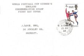 1966 England World Cup Winners, Display FDC, Dosthill Tamworth Staffs.cds