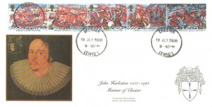 1988 The Armada 1588, John Hurleston Mariner of Chester Havering FDC, Chester Clwyd 1 cds