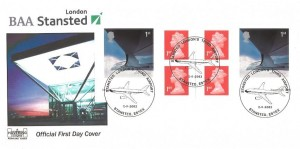 2002 Airliners,6 x 1st Class Retail Booklet, Havering Official FDC, Stansted London's Third Airport H/S
