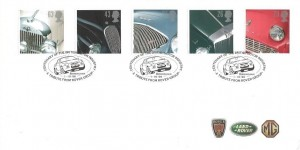 1996 Classic Cars, Rover Group FDC, Centenary of the British Motor Industry A Tribute from Rover Group Birmingham H/S
