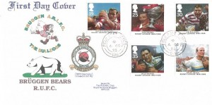 1995 Rugby League, RAF Bruggen Bears RUFC Cover, Field Post Office 986 cds