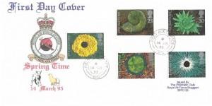 1995 Springtime, RAF Bruggen FDC, Field Post Office 986 cds