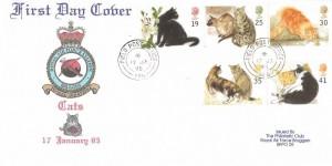 1995 Cats, RAF Bruggen FDC, Field Post Office 986 cds